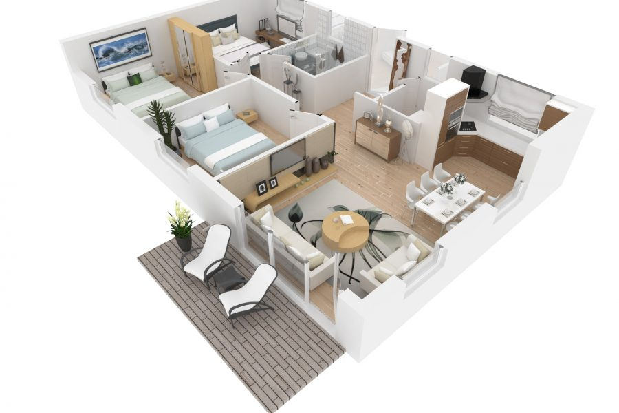 Architectural Rendering Services and Benefits of Rendered Floor Plans